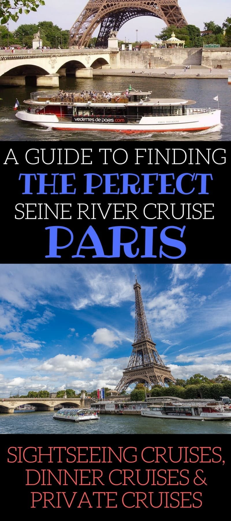 A guide to finding the best Seine river cruises in Paris. The guide reviews all the top cruise companies, listing cost, duration, narration type, departure points, and other information. We also provide information for those wanting to book a dinner cruise or private Seine cruise.
