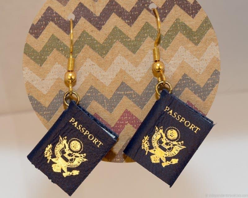 passport earrings travel jewelry traveling inspried jewellery