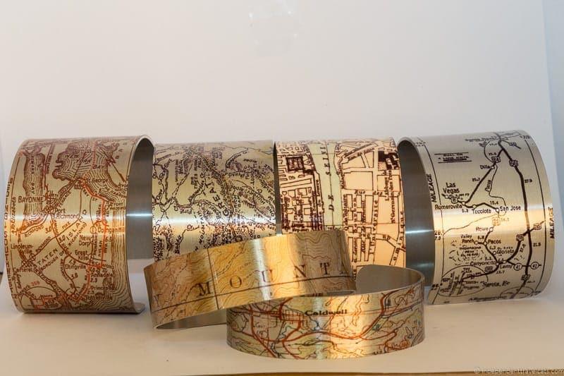 aluminum map bracelets travel jewelry traveling inspried jewellery