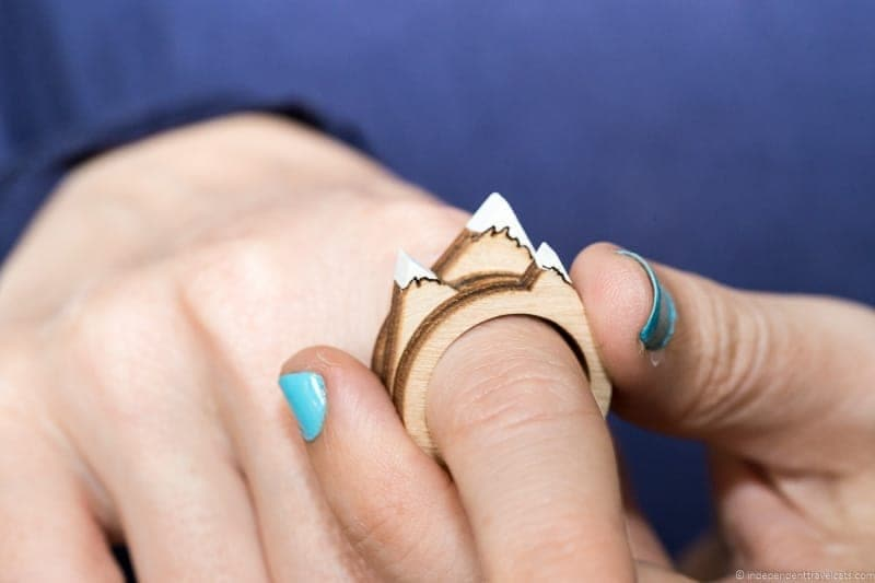 mountain ring travel jewelry traveling inspried jewellery