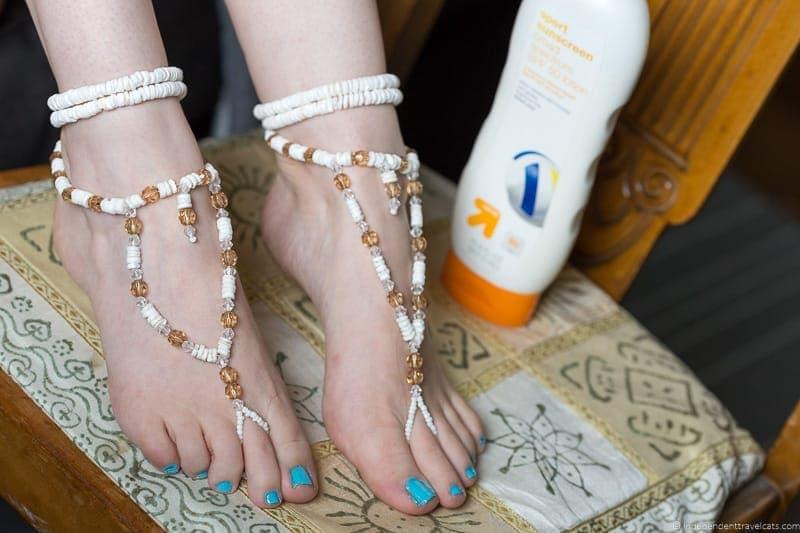 barefoot sandals handmade travel jewelry traveling inspried jewellery