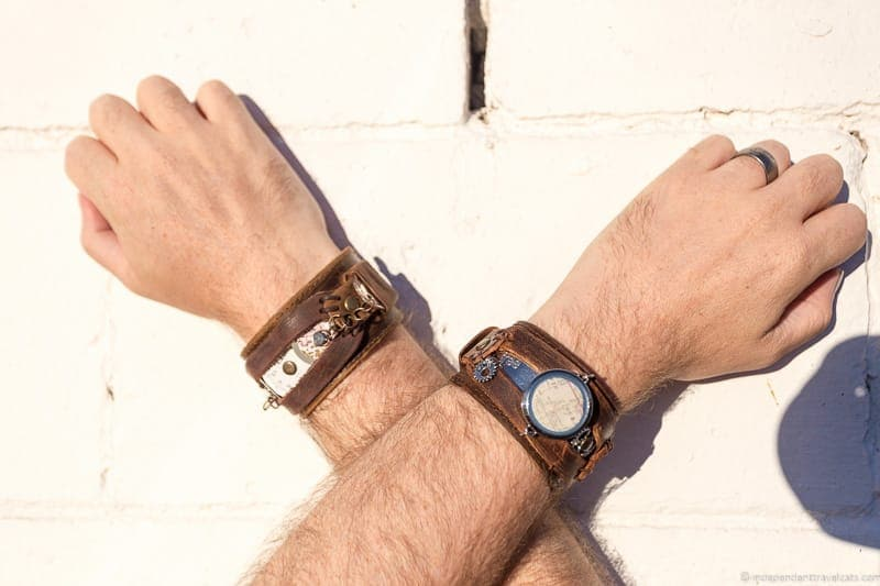 leather cuff bracelets travel jewelry traveling inspried jewellery