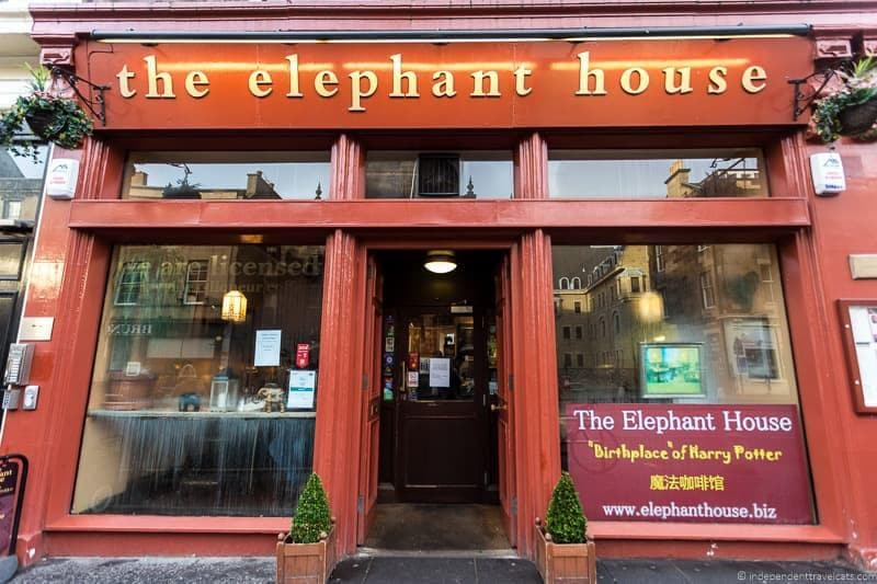 The Elephant House cafe Harry Potter sites in Edinburgh Scotland J.K. Rowling