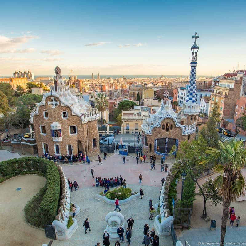 Park Güell guide to Gaudí sites in Barcelona Spain