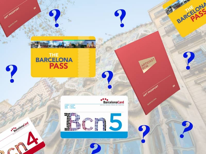 Barcelona Card versus Barcelona Pass vs. Articket Museum Pass Barcelona discount cards comparison