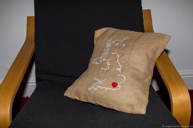 burlap country pillow Travel Home Decor Handmade Travel Themed Home Decorations