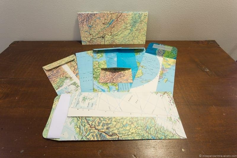 atlas envelopes Travel Home Decor Handmade Travel Themed Home Decorations