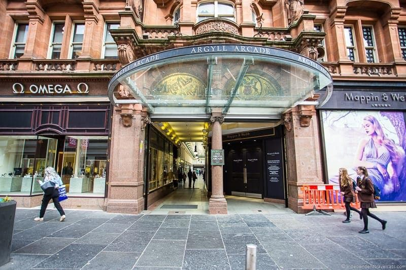 Argyll Arcade top things to do in Glasgow Scotland attractions