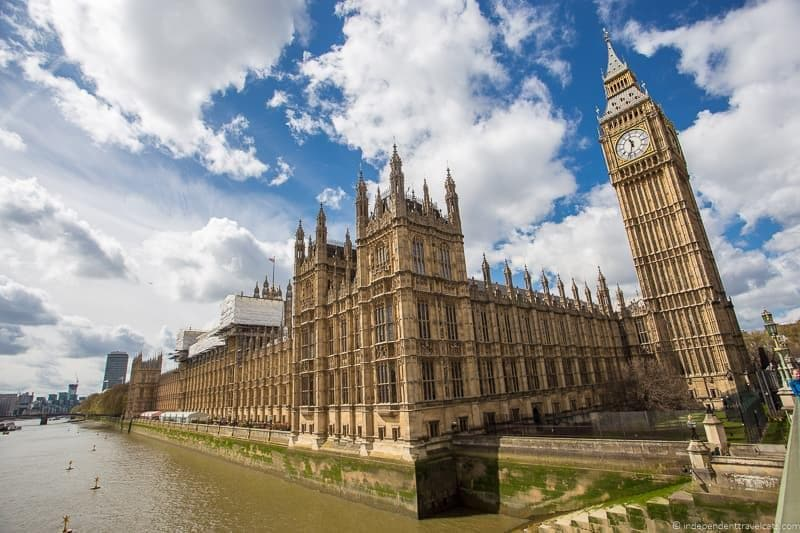 Houses of Parliament top Winston Churchill sites in England