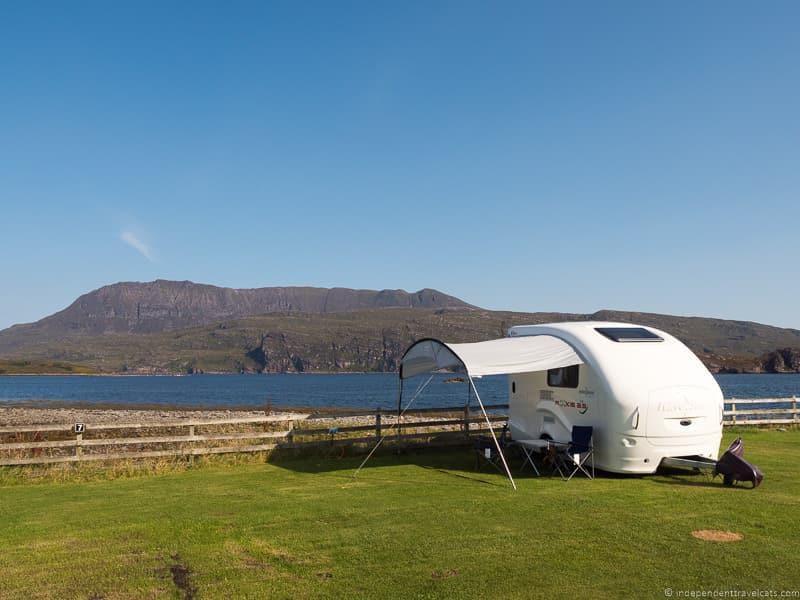 caravan North Coast 500 road trip guide Scotland
