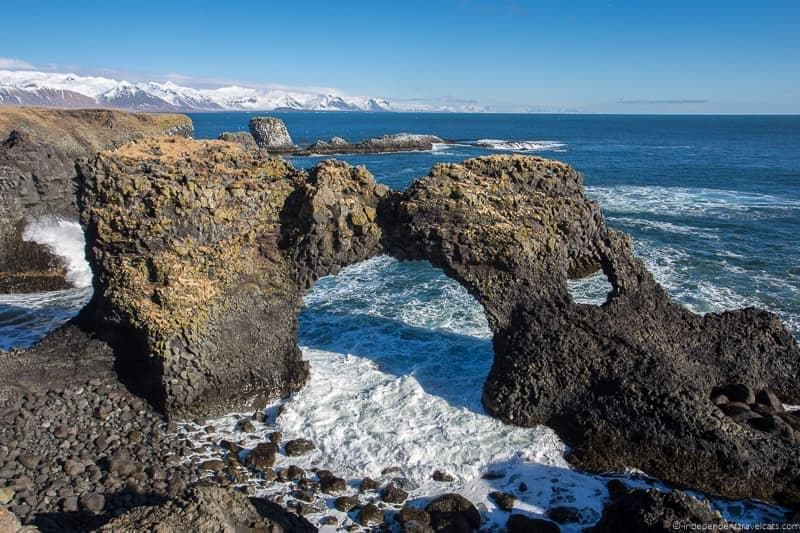 sea arch Iceland in winter activities day trips tours