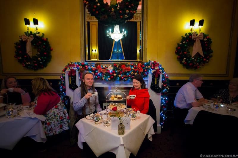 The Dome afternoon tea Christmas in Edinburgh Scotland December holidays