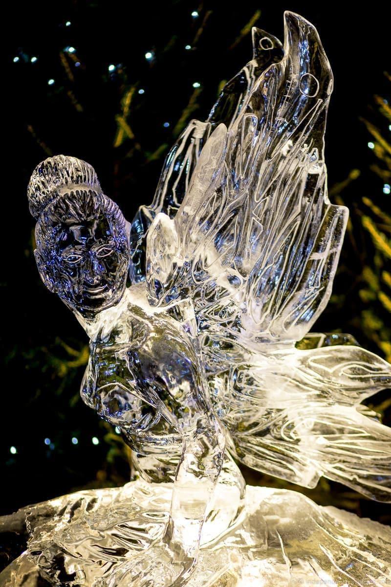 ice sculpture Christmas in Edinburgh Scotland December