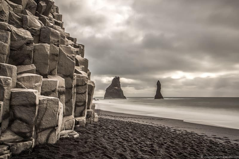 Reynisfjara black sand beach Iceland in winter activities day trips tours