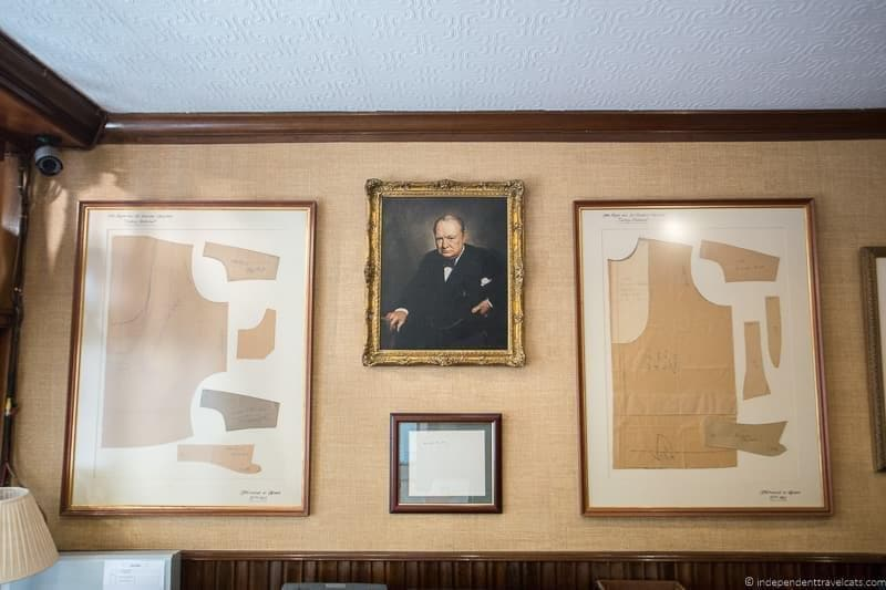 Turnbull & Asser Winston Churchill in London sites attractions England UK