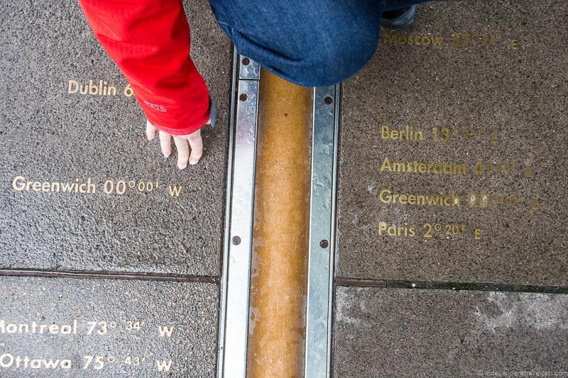 Prime Meridian line Visiting the UNESCO World Heritage Sites in London