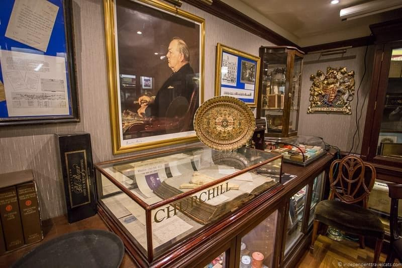 James J Fox Museum Winston Churchill in London sites attractions England UK