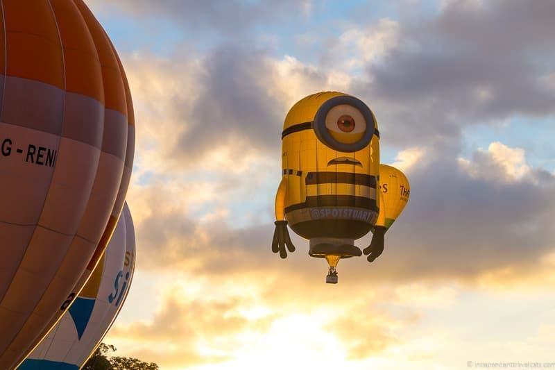 special shape balloons Bristol International Balloon Fiesta England UK