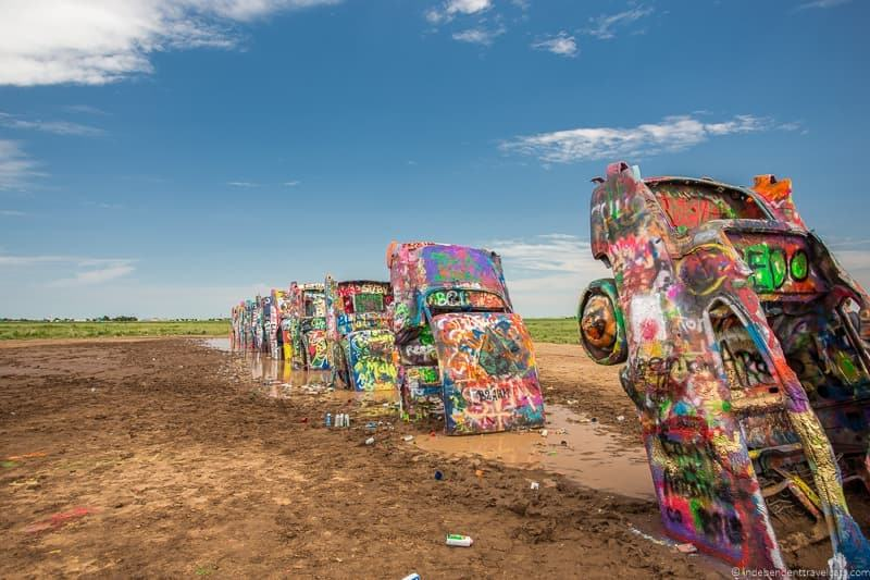 Cadillac Ranch Amarillo Texas 14 day Route 66 itinerary detailed guide