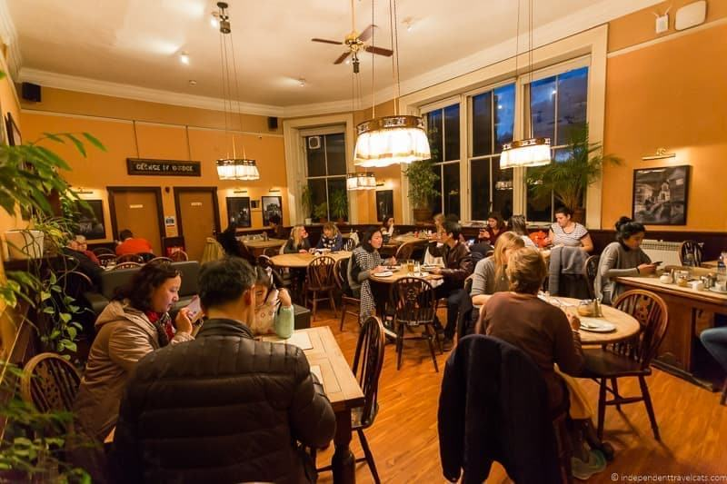 The Elephant House cafes where JK Rowling wrote Harry Potter in Edinburgh Scotland