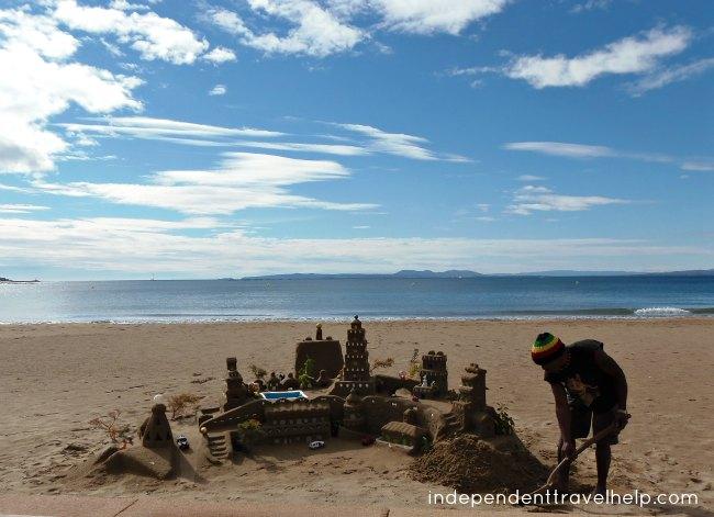 sand castle, sand, beach, costa brava, roses, beaches