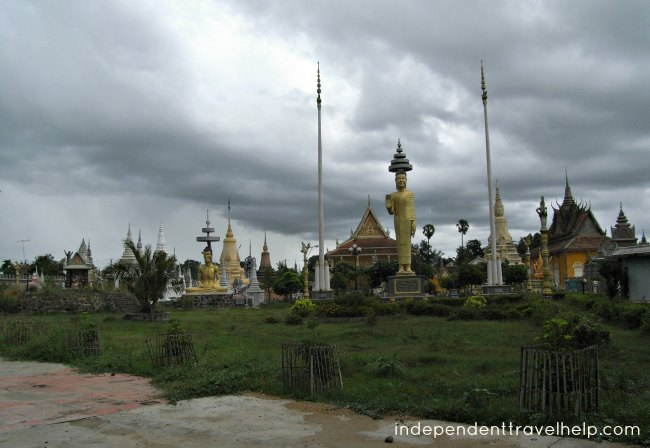 temple, kampong cham, cambodia, asia