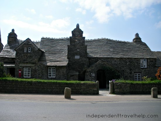 post office, tingagel in cornwall, cornwall, roof