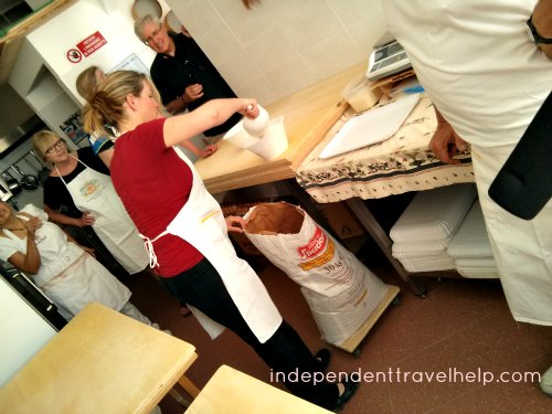 Measuring flour for pasta making
