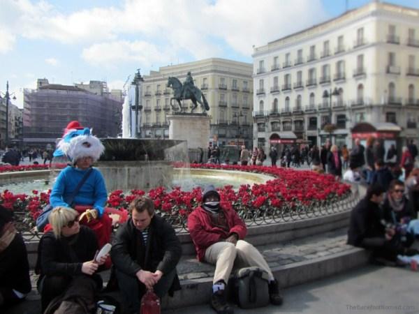 Papa-Smurf-in-Plaza-del-Sol-Madrid
