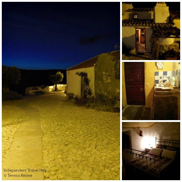 Aldeia Mata Pequena at night