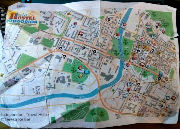 Discovering Podgorica Things To See And Do Independent Travel Help - Podgorica map
