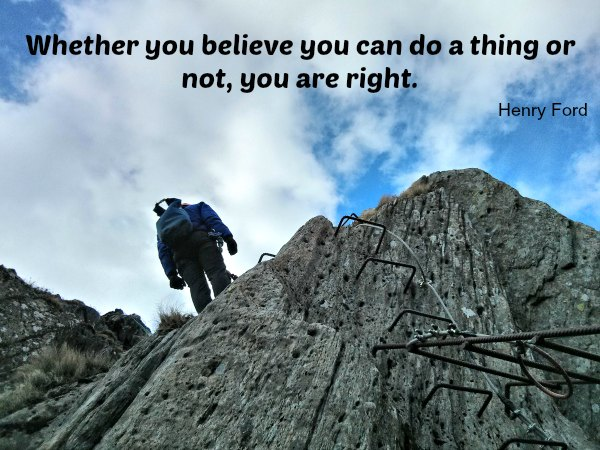 Whether you believe you can do a thing or not