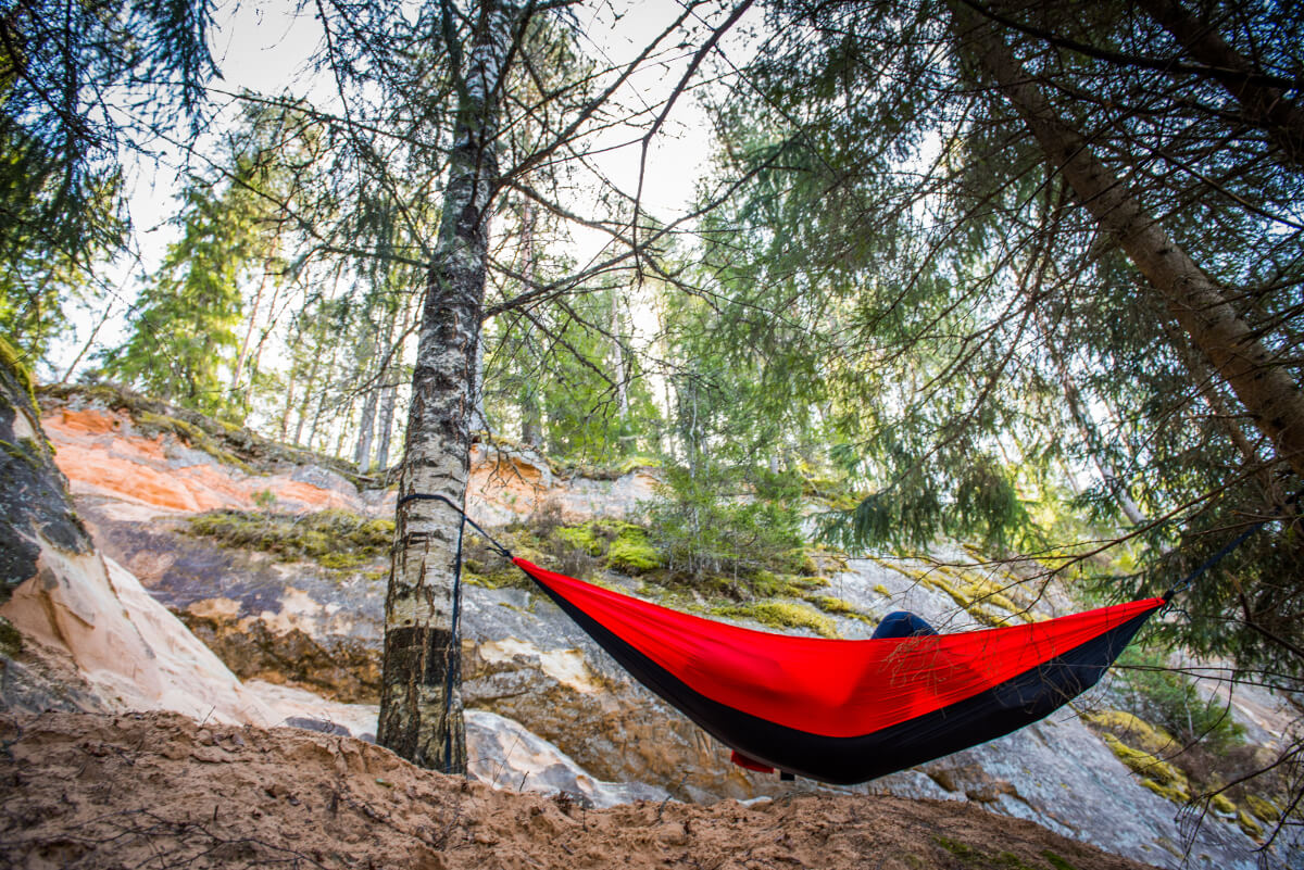 Independent Wolf Portable Nylon Camping Hammock With Three