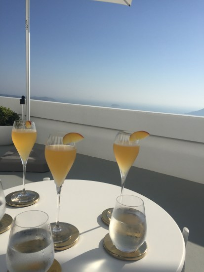 Bellinis at 'The Grace' hotel