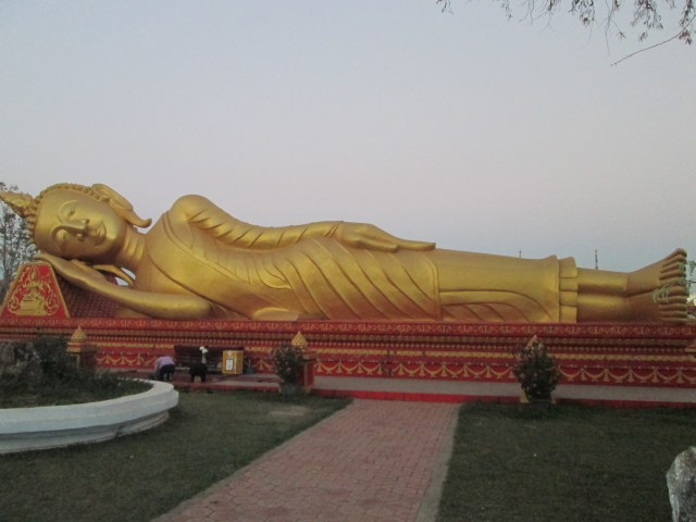 Laos Golden Reclining Buddha, Vientiane City