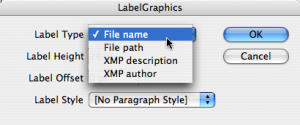The LabelGraphics Scripts that ships with InDesign