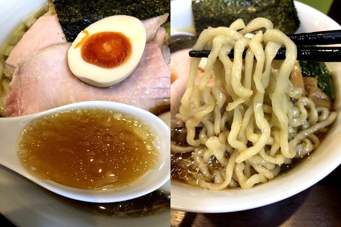 とものもと_特製醤油らーめん(スープ・自家製麺)