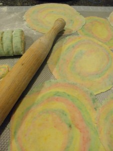 Colorful dough circles