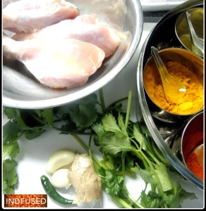 Ingredients for the marinade