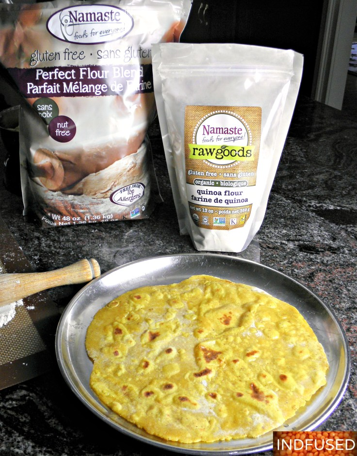 #Indianfusion #easyrecipe for #glutenfree roti wraps with the goodness of turmeric, dal and yogurt
