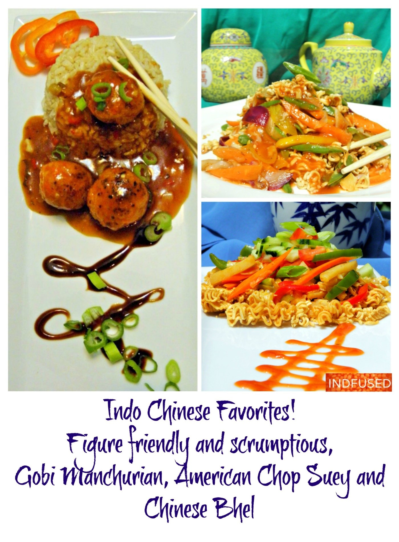 Immensely popular #IndianChinese #gobimanchurian, America Chop suey and chinese bhel