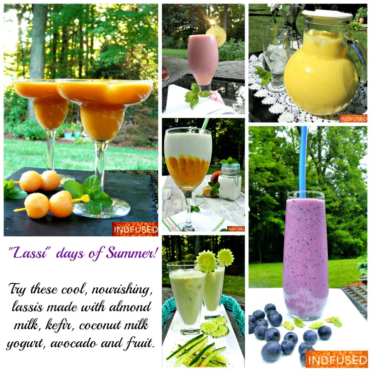 Easy Indian and Indian fusion recipes for Mango Lassi and fruit lassis, vegan lassi drink, gluten free Indian recipes