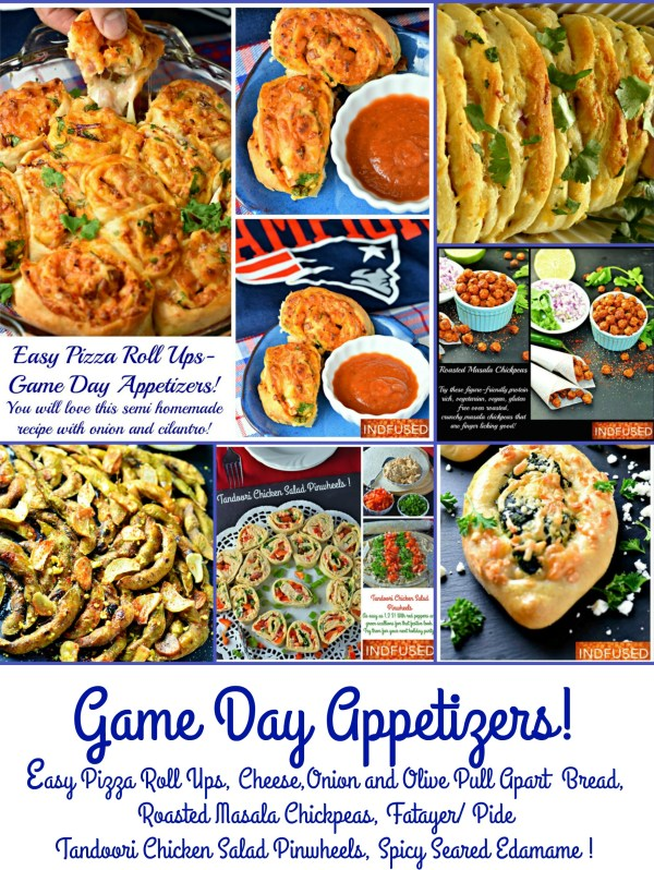 Easy to make game day appetizers and snacks, perfect for a party