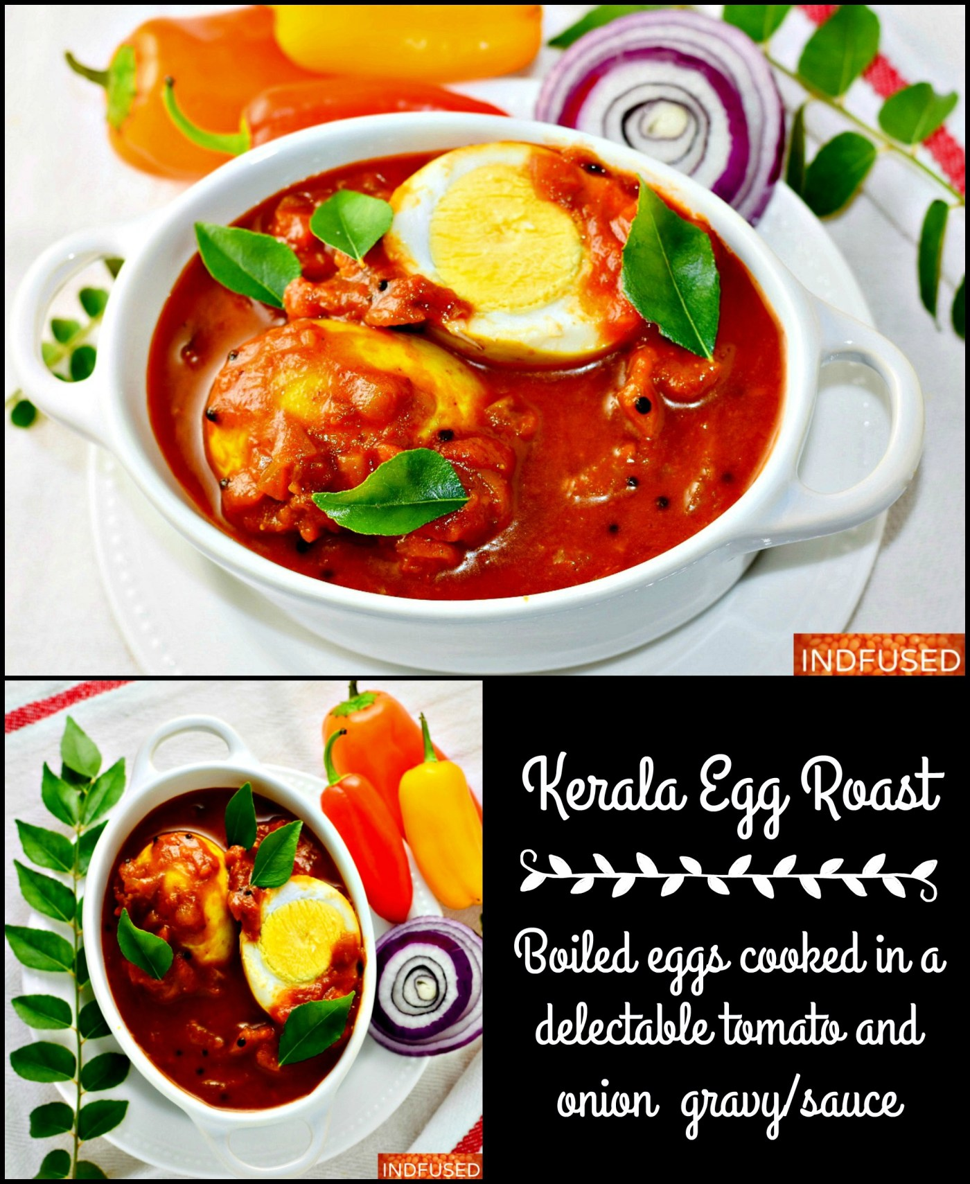 Kerala egg roast is an iconic dish with boiled eggs in a delectable curry