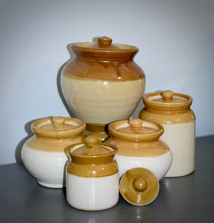 Barnis-Traditional Indian jars used to store pickles
