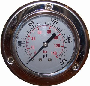 2000 PSI - Panel Flange Gauge