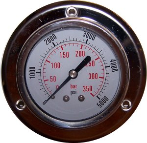 5000 PSI - Panel Flange Gauge