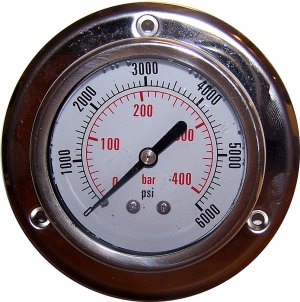 6000 PSI - Panel Flange Gauge