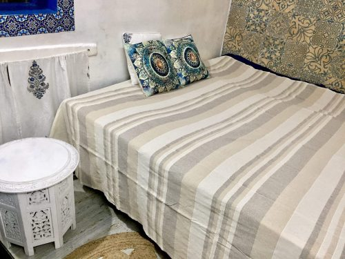 Cotton Bed Cover - Striped - IndiBlu Boutique