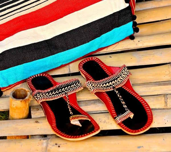 Black and Red Sandal
